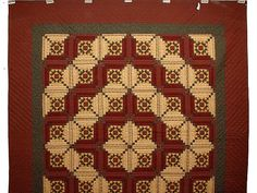 Stars in the Cabin Quilt -- outstanding made with care Amish Quilts from Lancaster (hs2969)