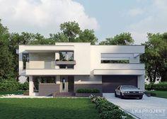 Auf 150 Quadratmetern haben die Architekten der LK&Projekt GmbH ein Einfamilienhaus gezaubert, das allein von außen schon interessant und modern aussieht. Eine langweilige einfache Fassade, wie sie jeder andere in der Nachbarschaft hat, bleibt den Bewohnern dieses strahlenden Hauses erspart.