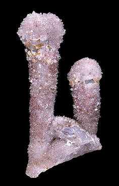 Sparkling specimen of drusy covered Agate stalactites!  From Chihuahua, Mexico.