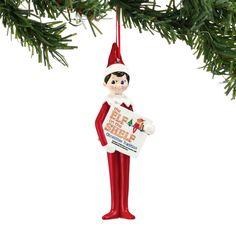 The Jolly Christmas Shop - Department 56 Elf On The Shelf Elf Boy Reading Christmas Ornament 4051638, $13.00 (http://www.thejollychristmasshop.com/department-56-elf-on-the-shelf-elf-boy-reading-christmas-ornament-4051638/)