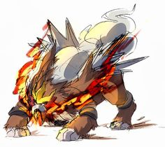 Entei. This is FIERCE and pretty ^_^