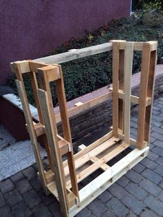 Pallet fire wood holder (inside only)