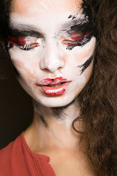 This has been all over the runways.  Val Garland designed a look like this for Vivian Westwood.  It's all about art in makeup, and I couldn't be more excited!