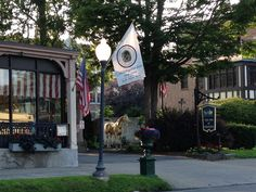 Picture I took of downtown Saratoga Springs, NY. Horse statues are everywhere!