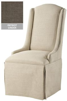 Custom Wingback Parsons Chair with Skirt - Only $207 each for formal dining?