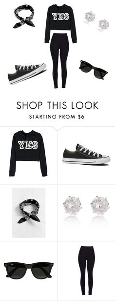 """""""Untitled #9"""" by yannabae ❤ liked on Polyvore featuring Converse, River Island, Ray-Ban, women's clothing, women, female, woman, misses and juniors"""