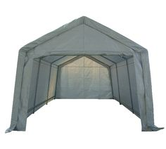 Portable Garage Carport Shelter Car Port Canopy x Galvanised Frame White Carport Canopy, Canopy Tent, Gazebo, Portable Carport, Carport With Storage, Craft Storage, Tool Storage, Storage Ideas, Garage Paint