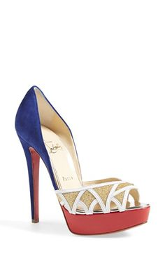 Christian Louboutin Open Toe Pump available at #Nordstrom