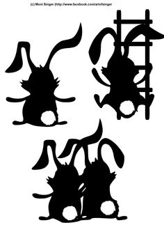 Silhouette plotter file free, Plotter Datei kostenlos, plotter freebie, Ostern, easter, Hasen, bunny