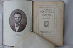 "Antique ""Lincoln's Own Stories""with Lincoln portrait, Collected by Anthony Gross, 1912 by julesoldjewels on Etsy"
