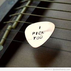 guitar love pick cute pickuplines adorable Quotes More