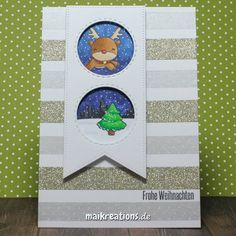 Make your own background with Washi Tape and create a scene easily.  More pictures and a list of supplies can be found on www.maikreations.de