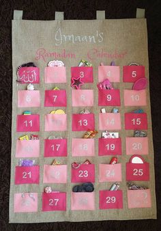 Personalised Fabric Kids Ramadan Advent Calendar by LoveImaan