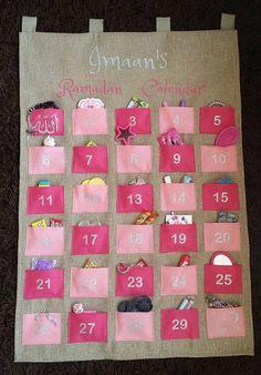 Personalised Fabric Kids Ramadan Advent Calendar by LoveImaan
