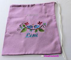 Turnbeutel individuell bestickt von Illustramenti - Nadelmalerei - Embroidery auf DaWanda.com