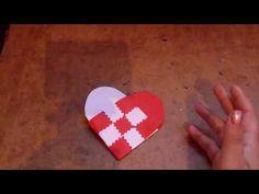 MANUALIDAD: Corazon de papel entrelazado o tejido. Formas, dia del amor y la amistad.