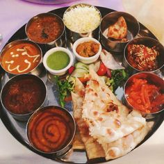 Delicious indian thali found in Angeethi restaurant, Newcastle Upon Tyne, UK