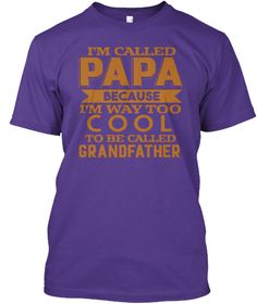 I'm Called Baba Because I'm Way Too Cool Purple áo T-Shirt Front