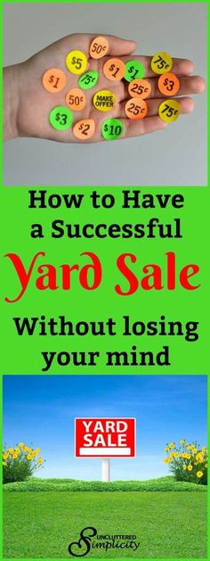 how to have a yard sale | yard sale pricing | yard sale signs