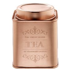 Copper Tea Canister - from Lakeland