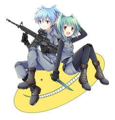Nagisa and Kaede.