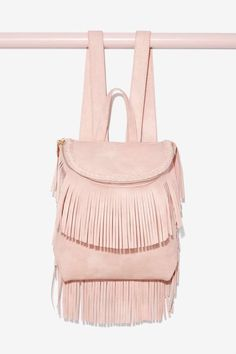 Blush With Fate Fringe Backpack | Shop Accessories at Nasty Gal!