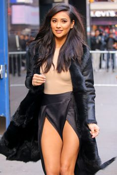 celebritiesofcolor: Shay Mitchell leaving Good Morning America in NYC