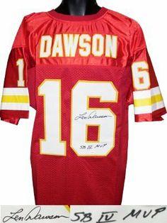20991ee74 Len Dawson signed Kansas City Chiefs Red Prostyle Jersey SB IV MVP- JSA  Hologram .