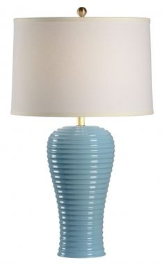 68871 Rigata Blue Table Lamp by Chelsea House * On SALE * Quality Table Lamps at FineHomeLamps.com * Professional Design Staff * Ships FREE.
