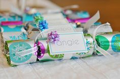 Make Christmas crackers for all the little ones at family Christmas party