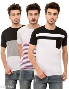 Tshirts Trendy Men's Cotton Blend Tshirts Combo Fabric: Cotton Blend Sleeves: Half Sleeves Are Included Size: S M L XL (Refer Size Chart)  Length: Refer Size Chart Fit: Regular Fit Type: Stitched Description: It Has 3 Pieces of Men's T-Shirts Pattern: Solid Country of Origin: India Sizes Available: S, M, L, XL   Catalog Rating: ★4 (493)  Catalog Name: Stylish Trendy Men's Cotton Blend Tshirts Combo Vol 9 CatalogID_284649 C70-SC1205 Code: 925-2145902-5631