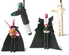 Halloween clothespin dolls