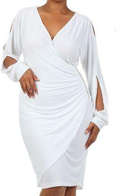 Surplice Bust Chiffon Gown plus sizes L - 3X