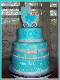 Baby Showers cake MiaDelicias.com