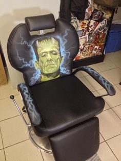 The artist will see you now / custom painted barber chair Barber Chair, Custom Paint, Bespoke, Artist, Painting, Taylormade, Painting Art, Paintings, Painted Canvas