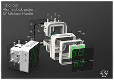 Alarm clock completed project on Behance