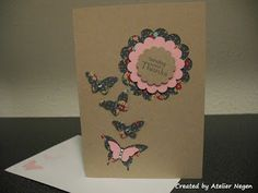 Stampin' Up! Elegant Butterfly punch, Bitty Butterfly punch, Circle punch, Scallop Circle punch, Petite Pairs stamp set