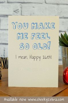 birthday card for boys This funny birthday card for boys is perfect for your little brothe 16th Birthday Gifts For Girls, Best Friend Birthday Cards, 16th Birthday Card, Best Friend Cards, Handmade Birthday Gifts, Birthday Cards For Friends, Funny Birthday Cards, Birthday Surprises, Birthday Boys