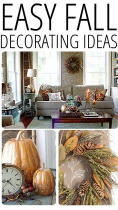 EASY FALL DECORATING IDEAS Easy Fall Decorating Updates (And a Giveaway!)  #MyHarvestHome