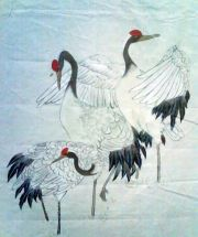 Lily Zhang - Cranes #brushpainting #fineline #Ink and Wash Painting #Chinese Art #Japanese Art