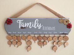 Family Birthday Board / Family Birthday Sign / Family Birthday