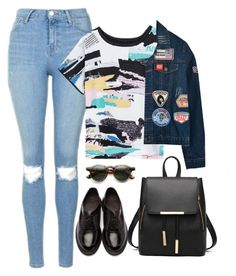"""""""Ruth"""" by goodruth ❤ liked on Polyvore featuring Topshop, Chicnova Fashion, Dr. Martens and ZeroUV"""