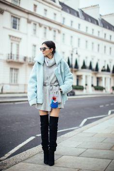doina ciobanu blue aviator jacket thigh high boots-2
