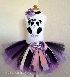 Baby Panda Bear TuTu set.. $52.95, via Etsy.