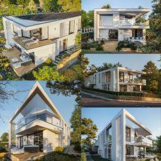 Ea, Mansions, House Styles, Modern, Home Decor, Clean Lines, Minimalist Design, Unique, Architecture