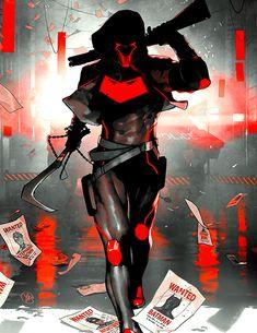 Comic Style Art, Comic Styles, Comic Books Art, Comic Art, Tmnt, Red Hood Jason Todd, Bat Boys, Spaceship Art, Young Justice