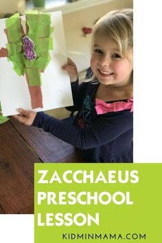Zacchaeus Preschool Lesson and craft