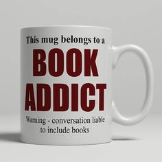 Book Mug Reader Addict Gift Idea For Birthday Reading EB