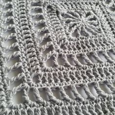 Meditative #crochet square pattern for mindfulness crochet by @spincushions in a post about the #craftastherapy hashtag on Instagram