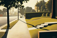 """From Kenton Nelson's website: """"Nelson traces his interest in painting back to his great uncle, Roberto Montenegro, renowned Mexican muralist and Modernist. Contemporary Landscape, Urban Landscape, Landscape Art, Contemporary Artists, Landscape Paintings, Et Tattoo, Grant Wood, Art For Art Sake, Montenegro"""